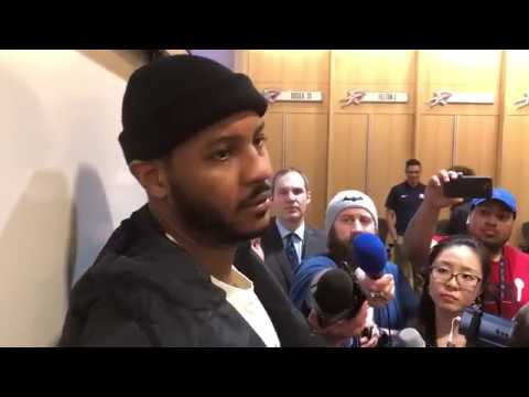 Carmelo Anthony Postgame Interview / Thunder vs Nuggets