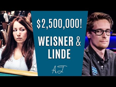 Weisner & Linde on a POKER COLLISION for $2,500,000! (WSOP Tournament Poker Strategy)