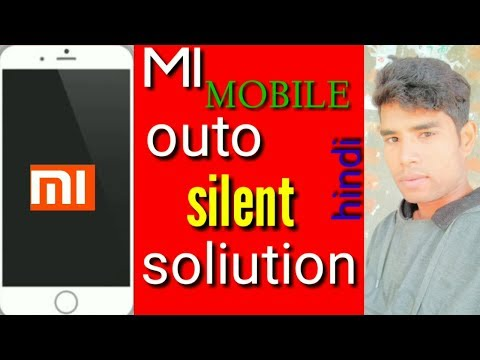 Mi Mobile Outo Silent Mode ,haw To Off And On Mi Mobile Outo Silent Mode