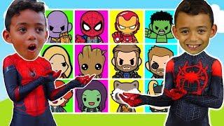 Giant Superhero Smash Game with Spiderman & Marvel Avengers Superhero toys -  Anwar and Leah