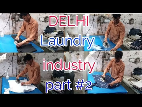 How to steam iron shirt/pant perfectly. DELHI LAUNDRY INDUSTRY part #2