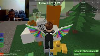 playing roblox (Nelson gamer) first time xd