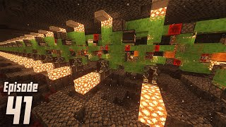 Building the Tunnel Bore for Ancient Debris - Minecraft 1.16.1 Episode 41