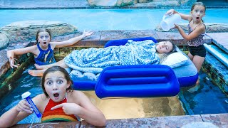 the LAST to LEAVE the HOT TUB wins A POOL PARTY!