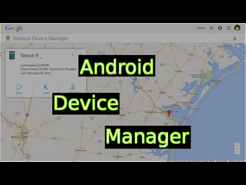 Android Device Manager (find & Wipe Your Android Device)