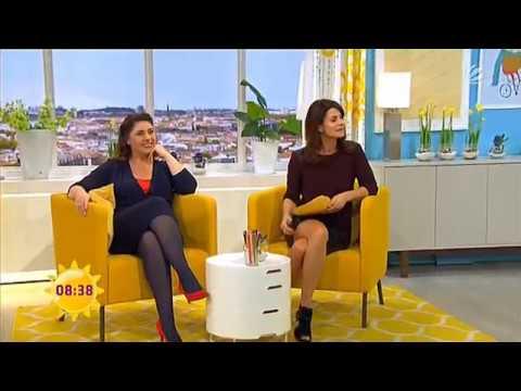 marleneschule2  Marlene Lufen upskirt hot legs high heels downblouse