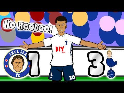 NO HOODOO! 1-3! 🔵Chelsea vs Spurs⚪ 🎵THE SONG!🎵 (Dele Alli Eriksen goal parody highlights 2018)