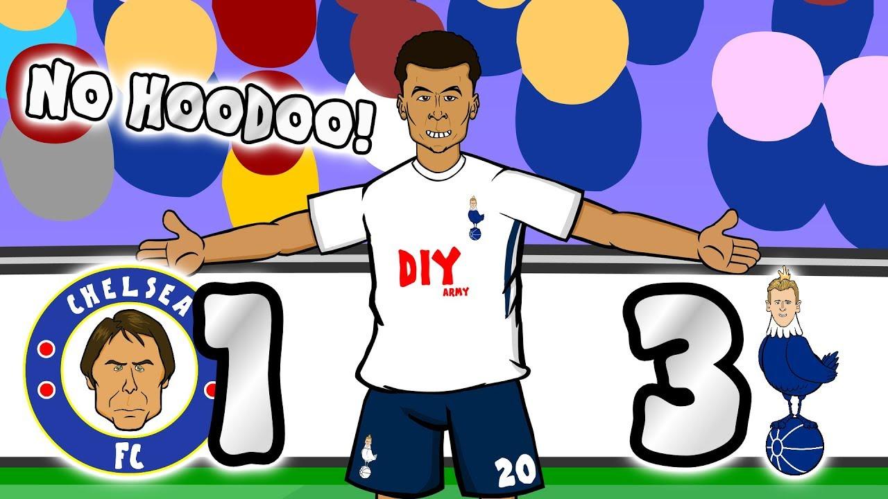 Download NO HOODOO! 1-3! 🔵Chelsea vs Spurs⚪ 🎵THE SONG!🎵 (Dele Alli Eriksen goal parody highlights 2018)