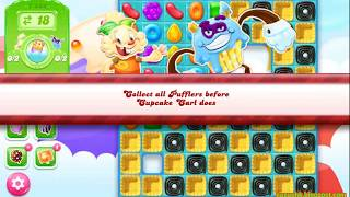Candy Crush Jelly Saga Level 1444 (3 stars, No boosters)