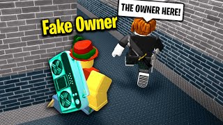 FAKE OWNER trolling in Roblox Murder Mystery 2