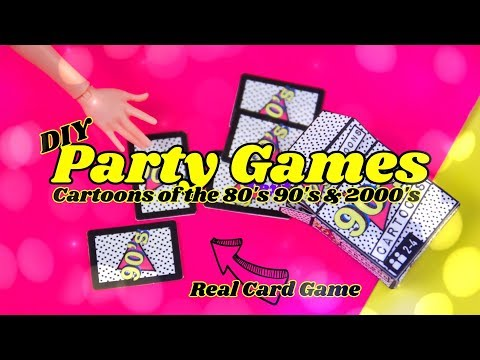 DIY - How To Make: Doll Card Party Game | Cartoons From The 80's 90's & 2000's