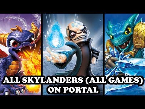 ALL 181 SKYLANDERS ON PORTAL (ALL GAMES) IN SKYLANDERS IMAGINATORS!