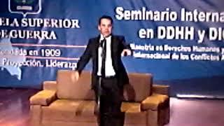 Seminario internacional en DDHH y DICA Humor con Polilla
