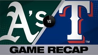 Manaea's gem leads A's in sweep of Rangers | Athletics-Rangers Game Highlights 9/15/19
