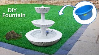 DIY Make Beautiful Fountain at Home using cement