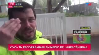 TN en medio del huracán Irma en Miami