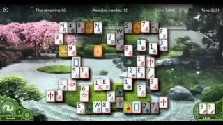 Playing Mahjong - Hard level Keys layout game without reshuffle