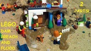DAM BREACH THROUGH LEGO HOUSE - TWO PARTS OF FLOODS!