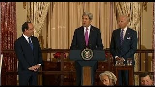 Secretary Kerry Delivers Remarks At A State Lunch For French President Francois Hollande
