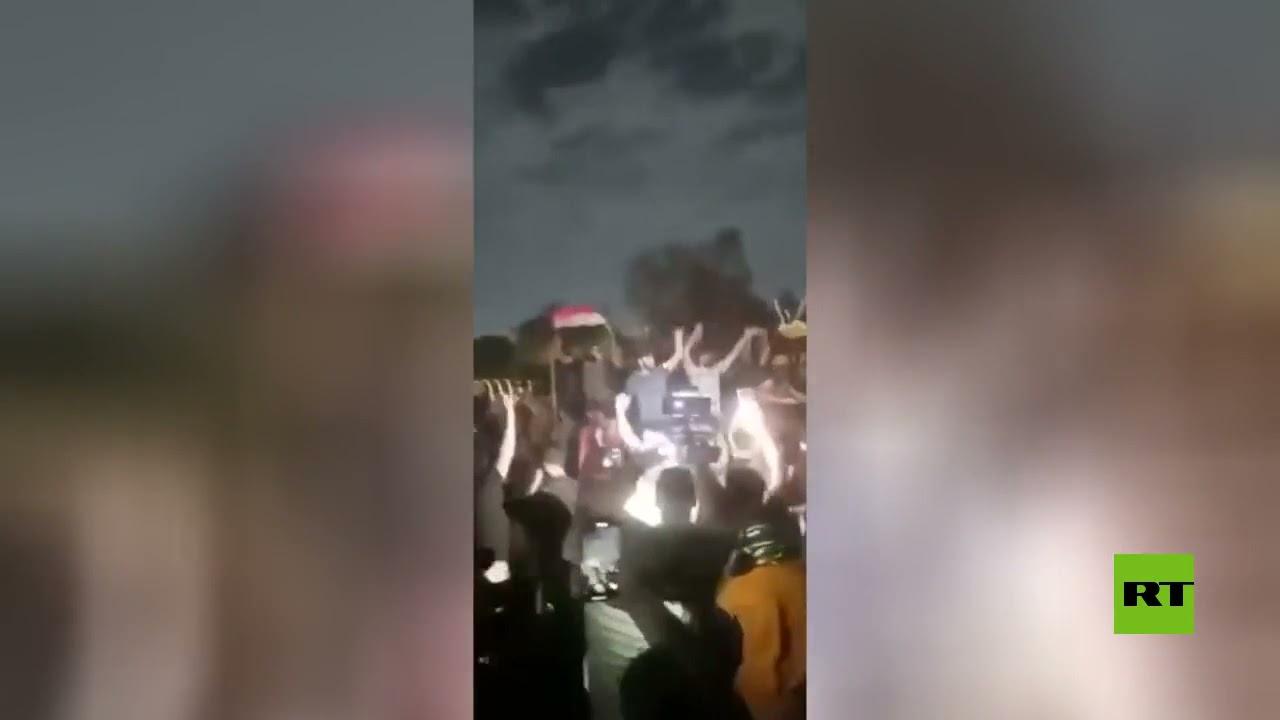 مشاهد لاعتصام حاشد في بغداد
