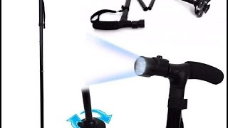 Cane Buddy Walking Stick Foldable Lightweight with inbuilt LED Lights