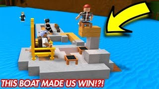 BUILD A BOAT FOR TREASURE IN ROBLOX! *WE MADE IT*