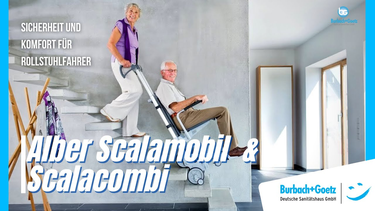 stair chair lifts for seniors rattan garden chairs uk alber treppensteiger scalamobil and scalacombi burbach
