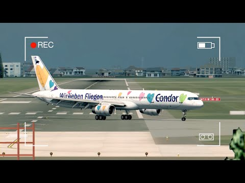 PLANESPOTTING | EDDH (FSX 2015) Realistic Landings & Take-off