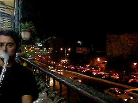 John on Damascus Cafe Balcony
