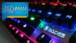 Sades K10 Mechanical Keyboard Unboxing and Review