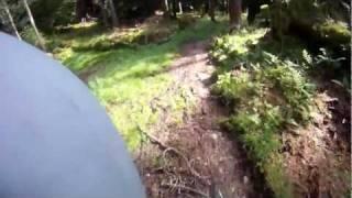Pucks Glen downhill, Dunoon filmed on the (GoPro HD)