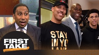 Stephen A. Smith rant about Magic Johnson and LaVar Ball's private meeting | First Take | ESPN