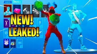 'NEW' Fortnite Leaked Skins -Emotes (Cheer Up, Crackdown, Lazy Shuffle, Clean Groove...)