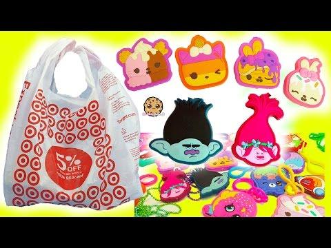 Surprise Blind Bags Dreamworks Trolls, Shopkins, Scented Num Noms - Target Toy Haul