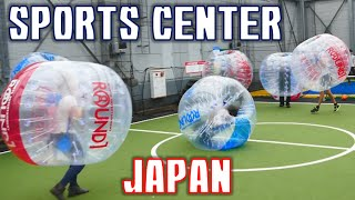 Crazy/Awesome games at Japanese sports center! 外国人グループでラウンドワン