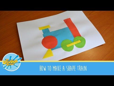 How to make a shape train #MakeItMonday