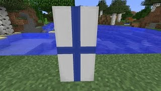 How to make the National Flag of Finland [FIN]//Minecraft