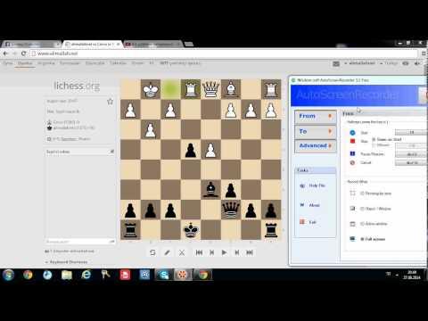 Mükemmel bir satranç oyunu, brilliant chess game from alimallah.net chess club