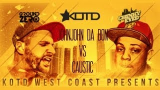 KOTD - Rap Battle - John John Da Don vs Caustic