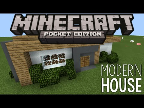 Instant house mod in mcpe amazing builds structu for Modern house mcpe 0 14 0