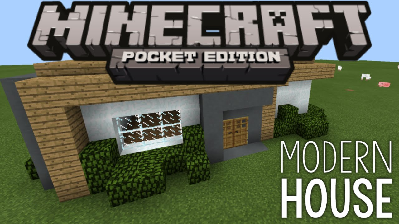 How to build a modern house minecraft pe pocket edition for Modern house minecraft pe