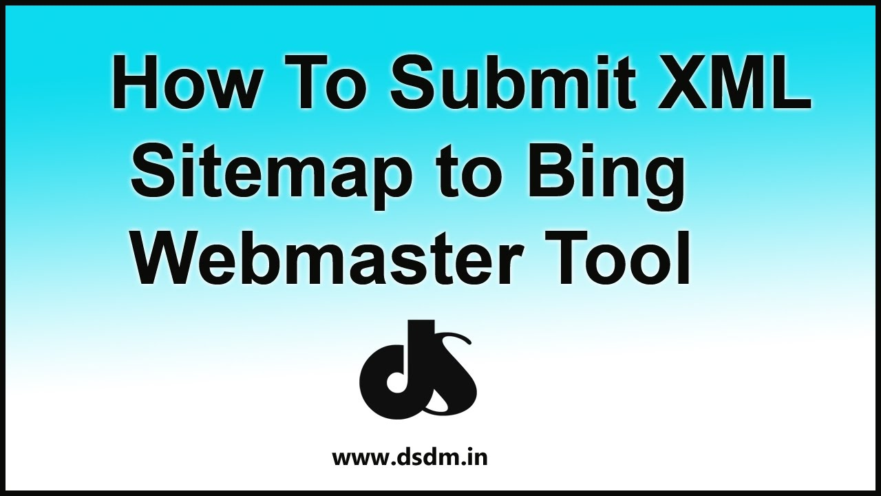 how to add an xml sitemap to bing webmaster tool youtube