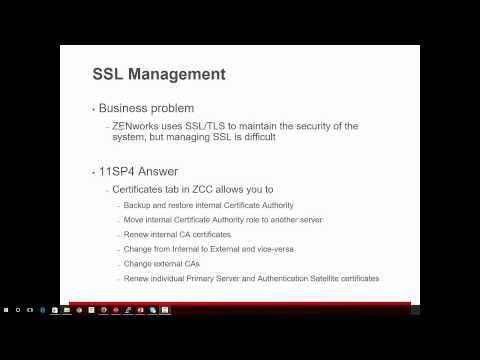 What's New in ZENworks SP4? Easier management of ZENworks SSL certificates: