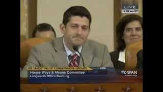 Paul Ryan Blasts Dem Rep Claiming IRS Investigation is Political Theater