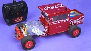 Amazing RC Hot Rod with Aluminium Cans and DC motors