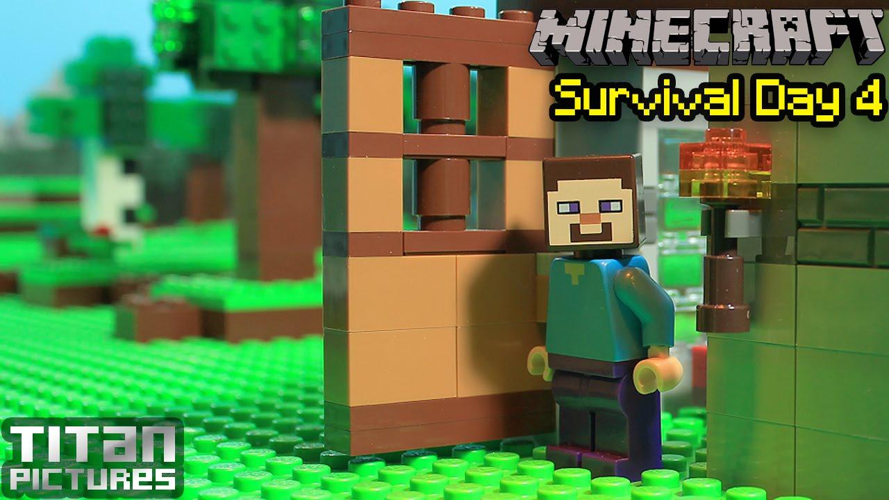lego minecraft survival 4 youtube. Black Bedroom Furniture Sets. Home Design Ideas