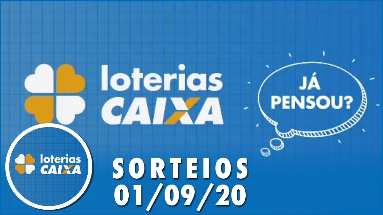 Loterias Caixa: Quina, Lotofácil, Lotomania e mais 01/09/2020