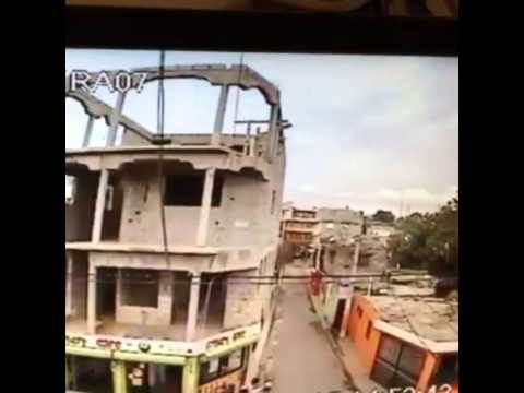 Helicopter crash in Dominican Republic, the right moment capture from CCTV,