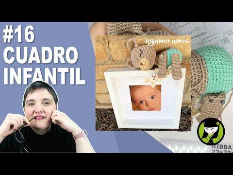 Cuadro infantil amigurumi 16 paso a paso