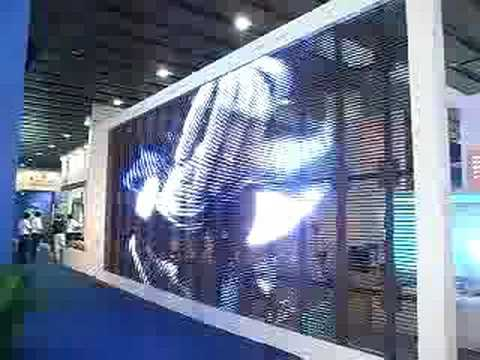 Transparent Led Screen 2008 Lighting Fair From Litemagic